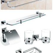 Bộ phụ kiện nhà tắm đồng mạ crome KD-01