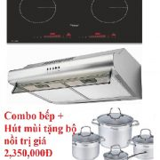 Combo bếp từ + Hút mùi Canzy giảm 45%, tặng bộ nồi cao cấp trị giá 2,350,000Đ